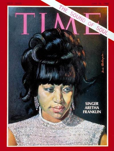 Aretha Franklin sulla copertina del Time magazine