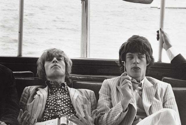 Brian Jones insieme a Mick Jagger