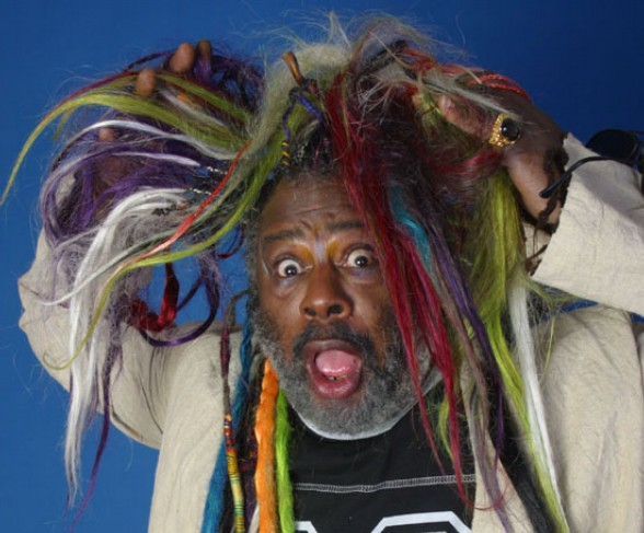 L'eccentrica acconciatura di George Clinton