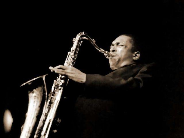John Coltrane con il suo sax