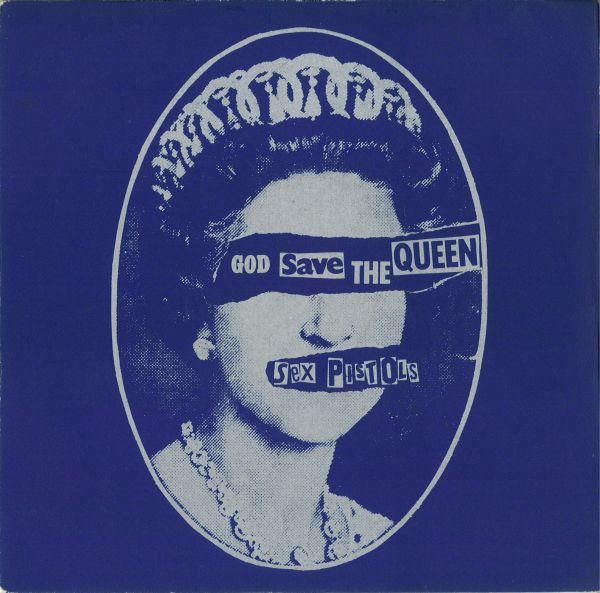 Sex Pistols, God Save The Queen (copertina di Jamie Reid)