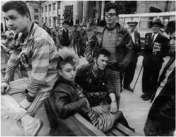 Un gruppo di punk sovietici