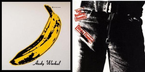 Le copertine di The Velvet Underground & Nico e di Sticky Fingers