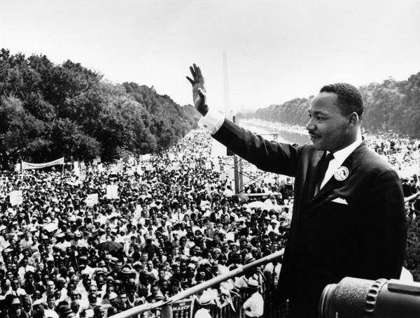 Martin Luther King alla marcia su Washington