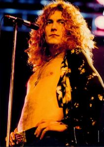 Robert Plant all'epoca dei Led Zeppelin