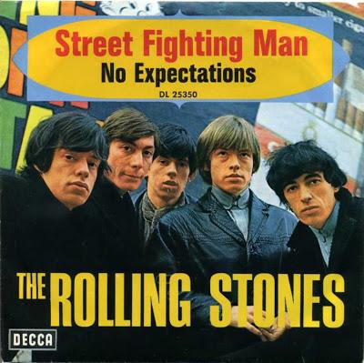 """La copertina del 45 giri di """"Street Fighting Man""""/""""No Expectations"""""""