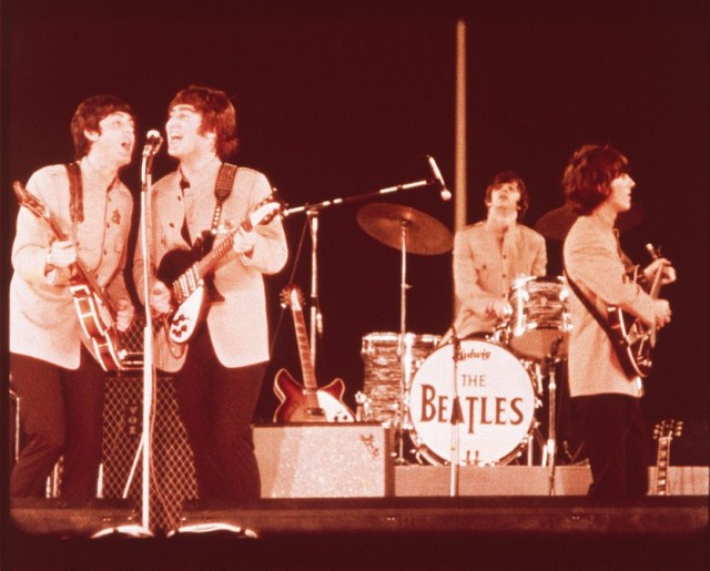I Beatles durante il tour del '65