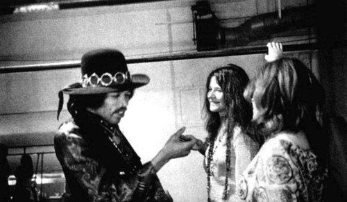 Due membri del club J27: Jimi Hendrix e Janis Joplin