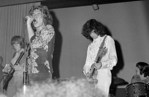 7 settembre 1968: Led Zeppelin live a Copenhagen (foto di Jorgen Angel)