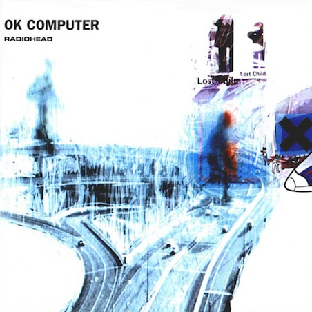 """La copertina di """"Ok Computer"""" dei Radiohead"""