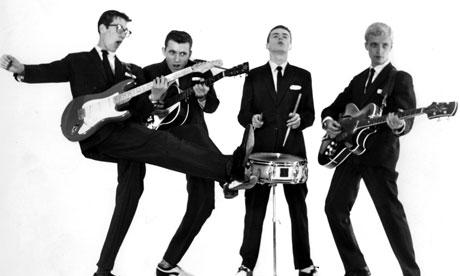 The Shadows: Hank Marvin, Bruce Welch, Tony Meehan e Jet Harris (Foto: Dezo Hoffmann/Rex Features)