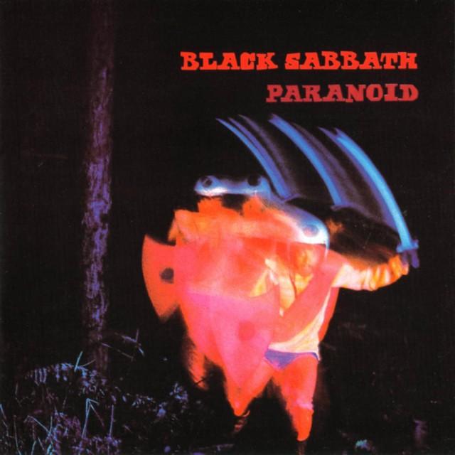 """La copertina del secondo album dei Black Sabbath, """"Paranoid"""""""
