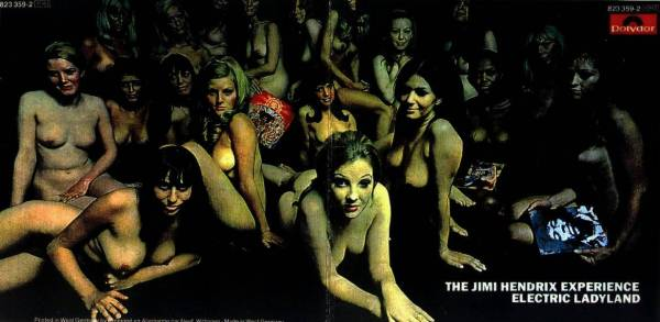 """Il celebre scatto di David Montgomery che fu utilizzato per la primissima copertina (poi censurata) di """"Electric Ladyland"""" (Reprise 1968)"""