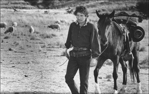 Bob Dylan in una scena della pellicola del regista Peckinpah