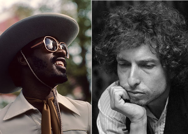 Stevie Wonder e Bob Dylan